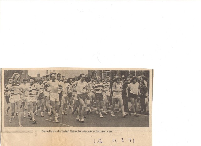 Start of the Leyland Five Miles 1971