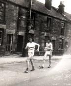 Mick Holmes leads Tony taylor